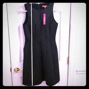 Catherine Malandrino black knee length dress sz 6